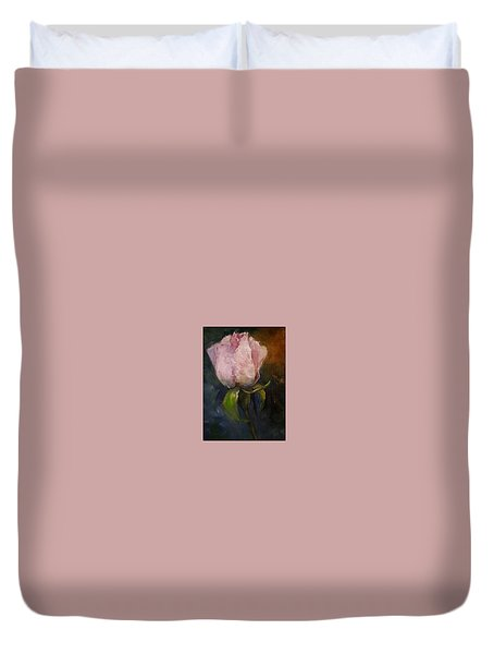 Pink Floral Bud Duvet Cover by Michele Carter