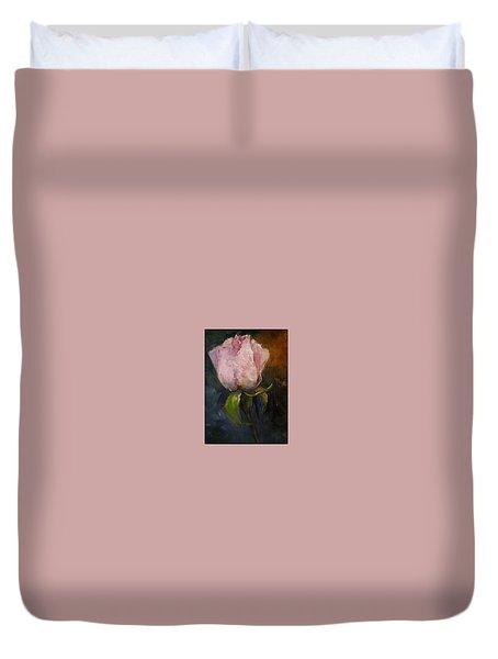 Pink Floral Bud Duvet Cover