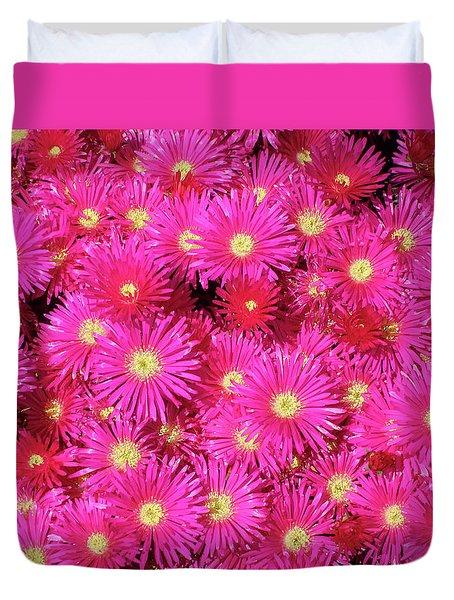 Pink Flower Explosion Duvet Cover