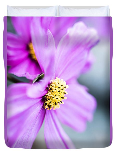 Pink Flower Duvet Cover