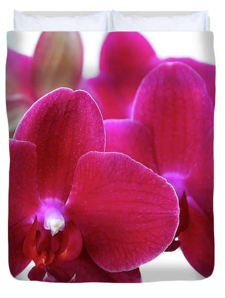 Red Orchid Duvet Cover