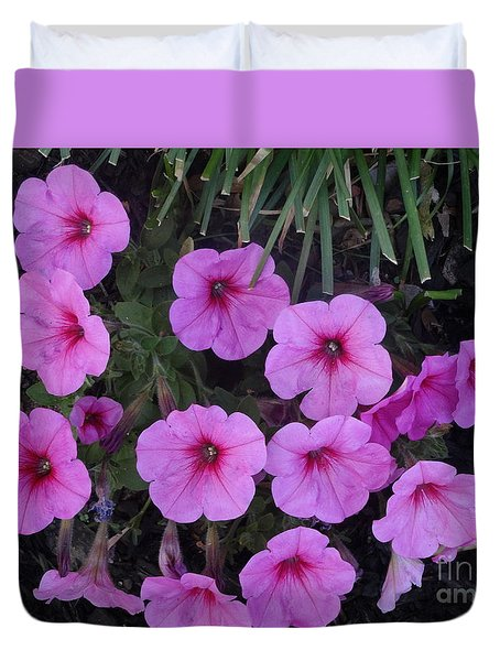 Pink Flowers Duvet Cover by Rod Ismay