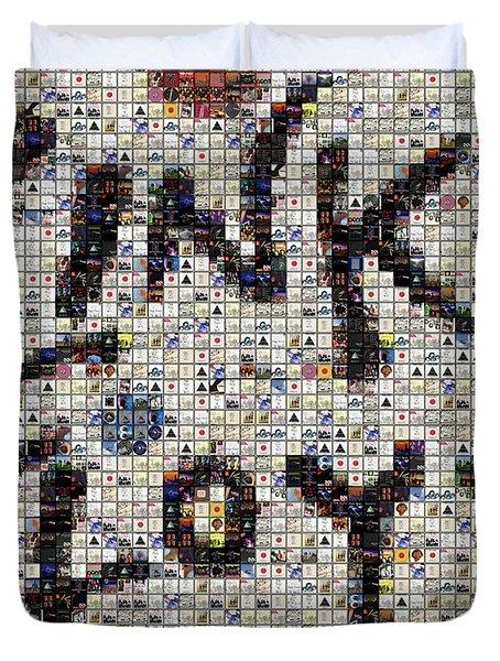 Pink Floyd Albums Mosaic Duvet Cover by Paul Van Scott