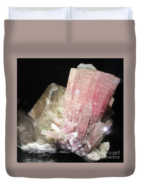 Pink Gemstone Duvet Cover