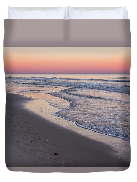 Pink Glow Seaside New Jersey 2017 Duvet Cover