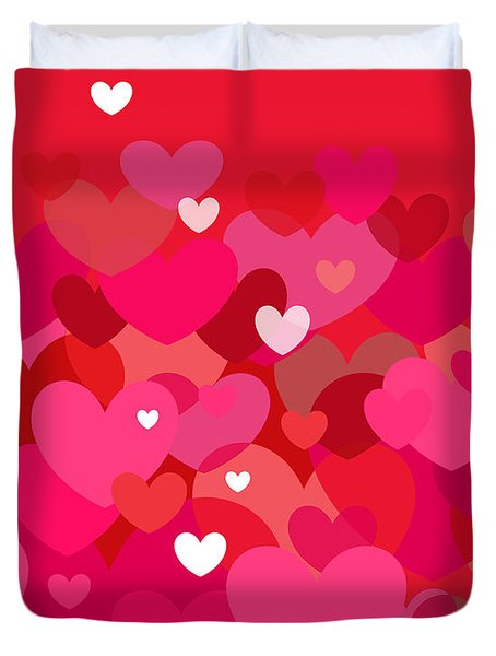 Pink Heart Abstract Duvet Cover
