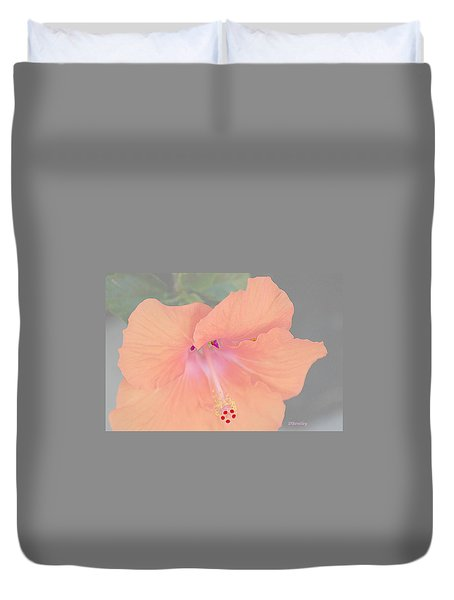 Pink Heavenly Hibiscus Duvet Cover