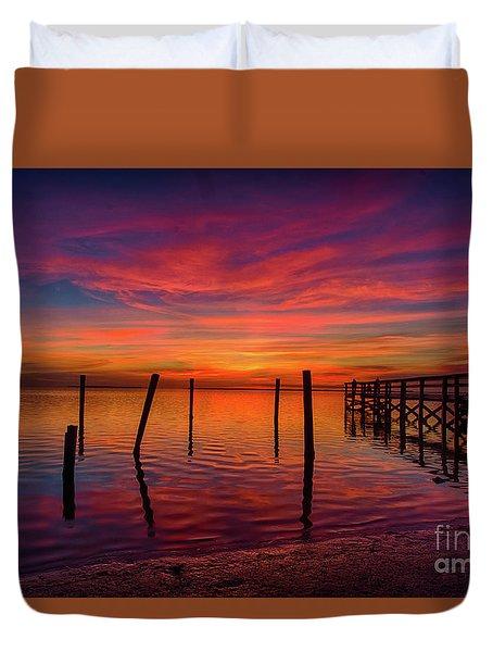 Pink Horizon Duvet Cover