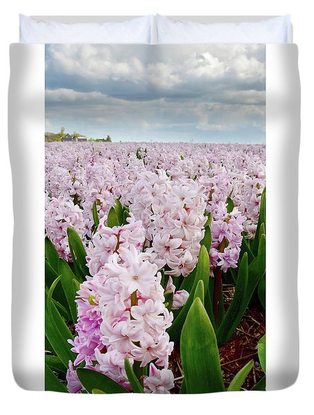 Pink Hyacinth  Duvet Cover by Mihaela Pater