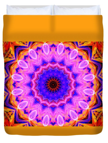 Pink Kaleidoscope Duvet Cover