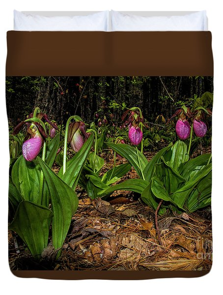 Pink Ladies Slipper Patch Duvet Cover