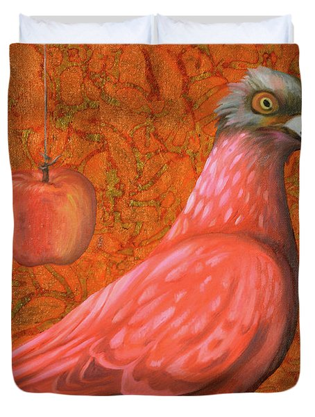 Pink Lady Duvet Cover by Leah Saulnier The Painting Maniac