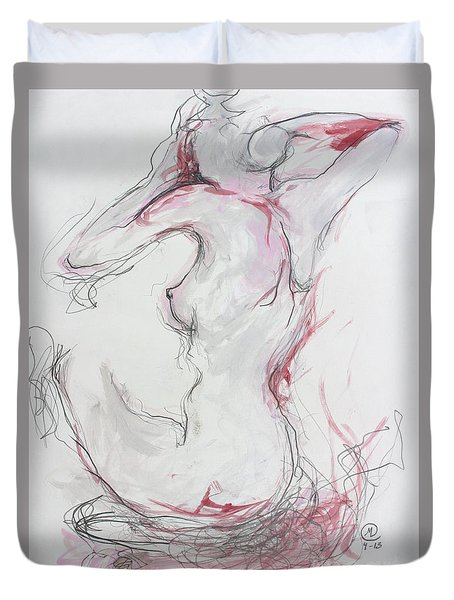 Pink Lady Duvet Cover by Marat Essex