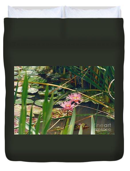 Pink Lillies 6-25-11 Duvet Cover