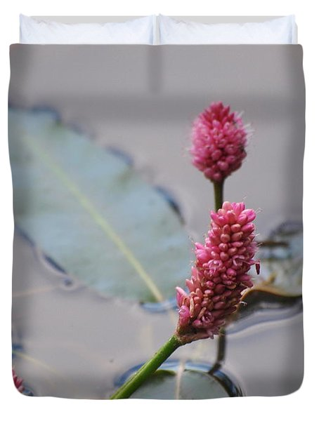 Pink Lily Pad Duvet Cover