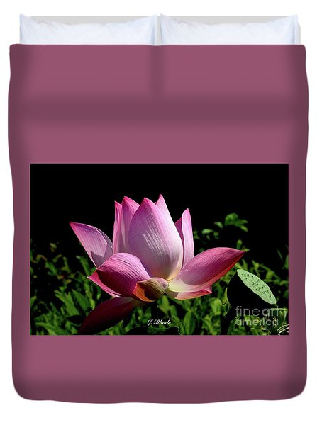 Pink Lotus  Duvet Cover by Jeannie Rhode