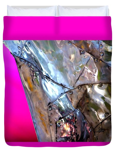 Duvet Cover featuring the photograph Pink Lustre  by Prakash Ghai