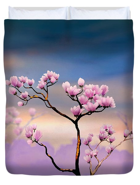 Pink Magnolia - Bright Version Duvet Cover