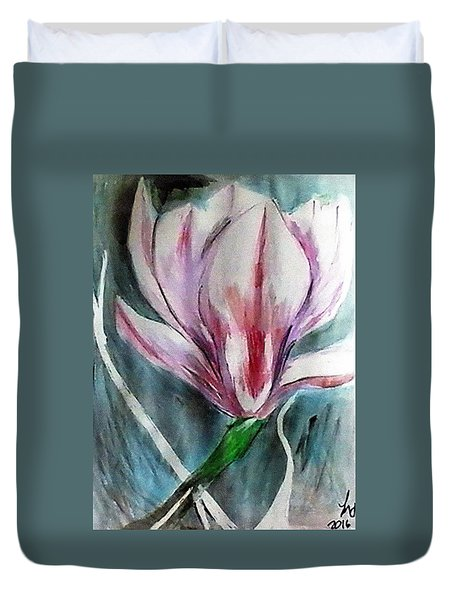 Pink Magnolia Duvet Cover by Loretta Nash