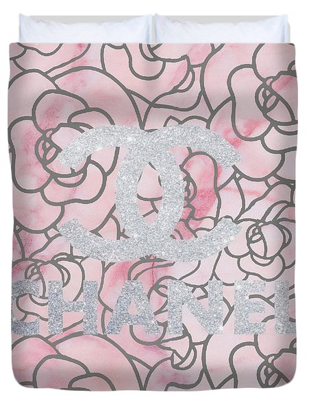 Pink Marble Chanel Duvet Cover