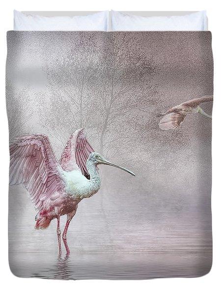 Pink Mist Duvet Cover