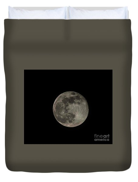 Duvet Cover featuring the photograph Pink Moon by David Bearden