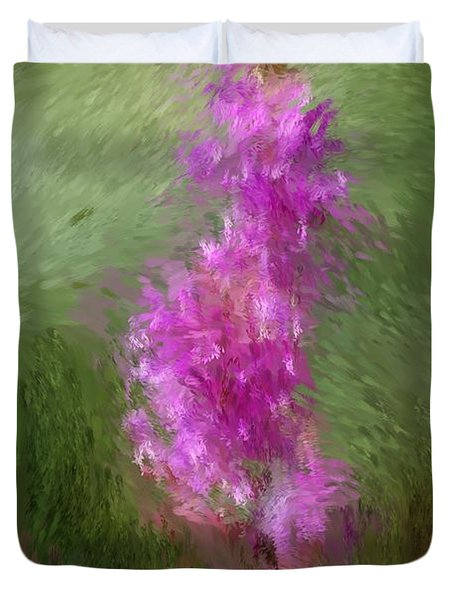 Pink Nature Abstract Duvet Cover by David Lane