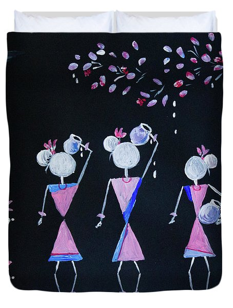 Pink Night Duvet Cover