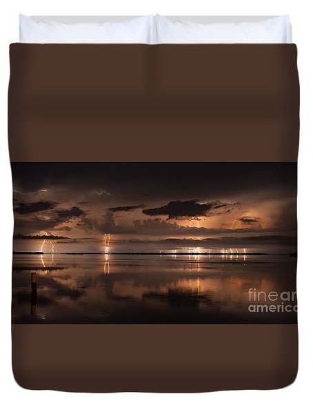 Amber Nights Duvet Cover