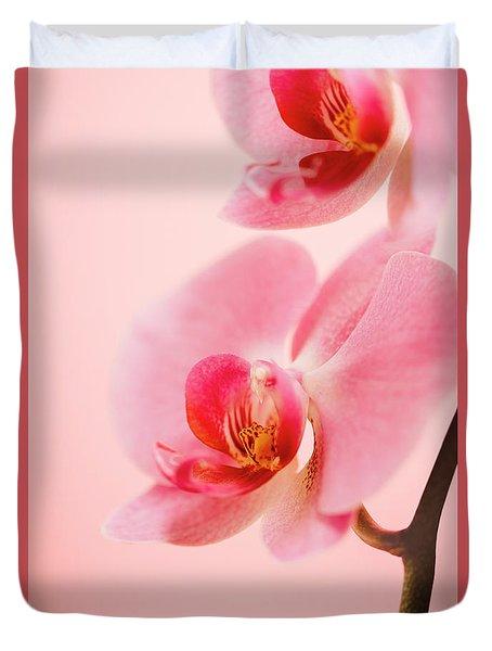 Pink Orchid Closeup Duvet Cover