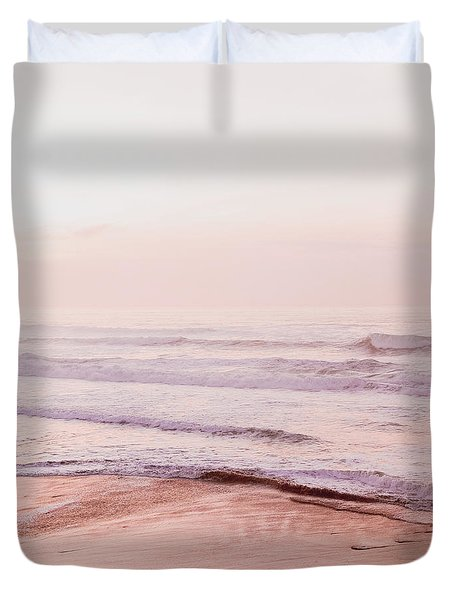 Pink Pacific Beach Duvet Cover by Bonnie Bruno