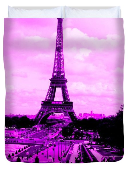 Pink Paris Duvet Cover