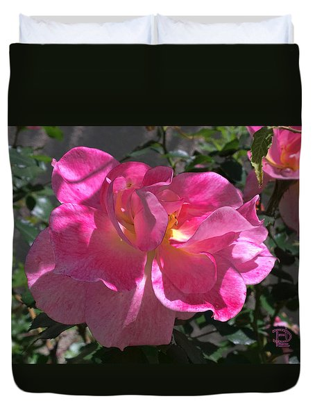 Duvet Cover featuring the photograph Pink Passion by Daniel Hebard