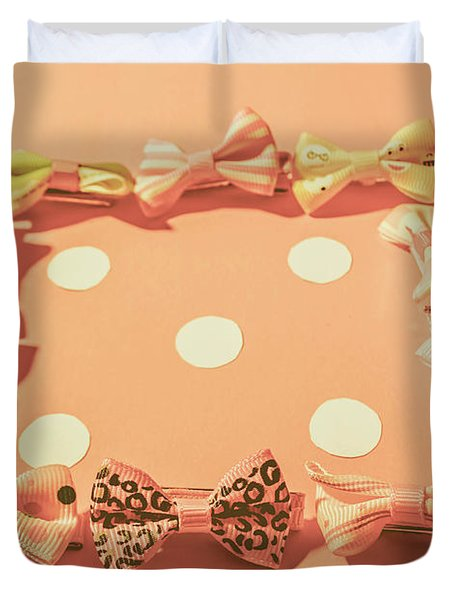 Pink Pastel Fashion Celebration Duvet Cover