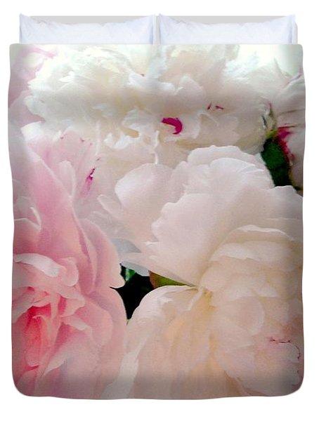 Pink Peonies Duvet Cover