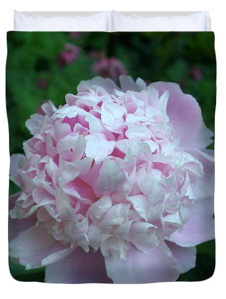Duvet Cover featuring the digital art Pink Peony by Barbara S Nickerson