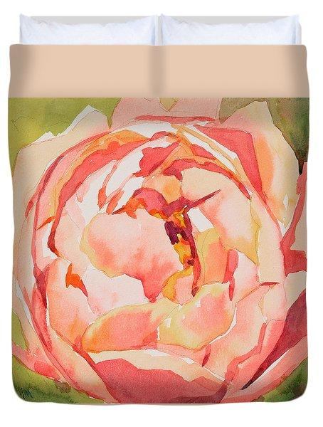 Pink Peony Glow  Duvet Cover by Jo  Mackenzie