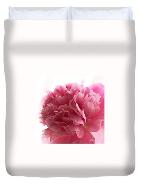 Pink Peony Duvet Cover by Katy Mei