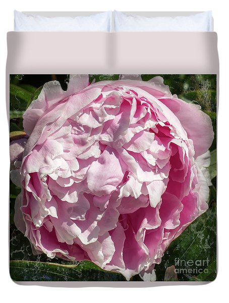 Pink Peony II Duvet Cover