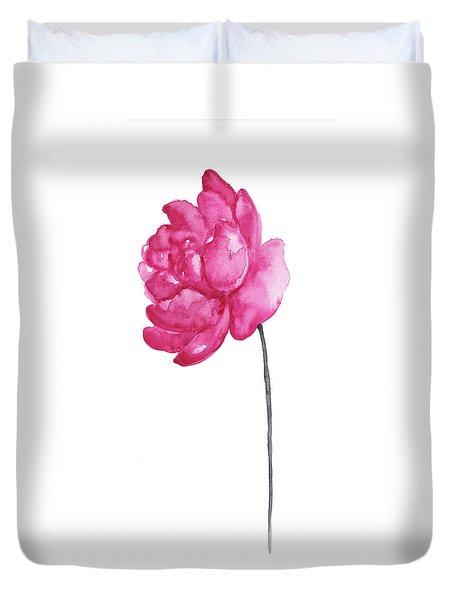 Pink Peony, Nursery Room Print, Baby Girl Kids Room Decoration,  Duvet Cover