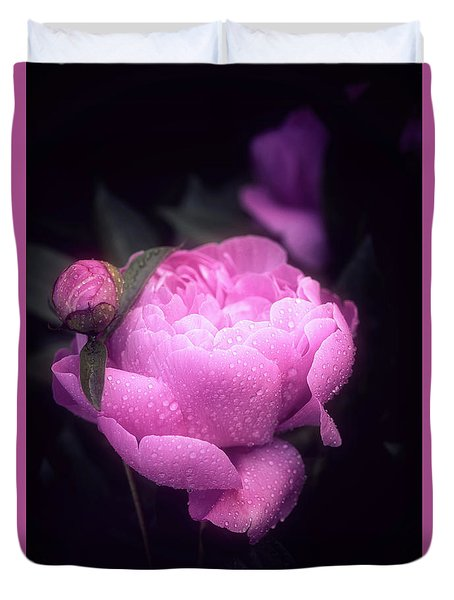 Pink Peony Duvet Cover by Philippe Sainte-Laudy