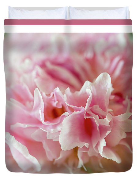 Duvet Cover featuring the photograph Pink Perfection by Wendy Wilton