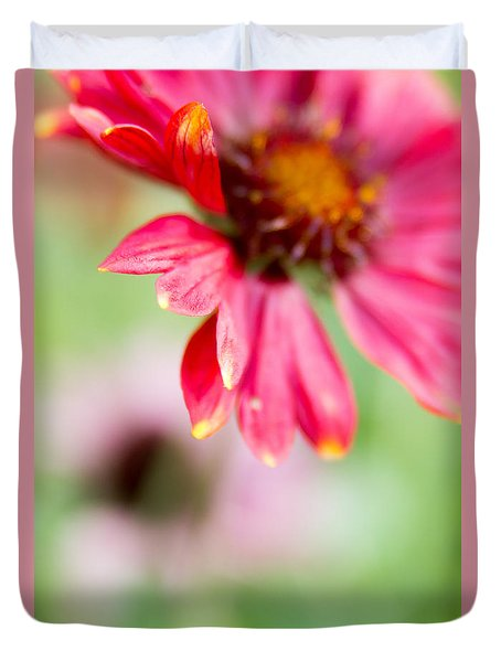 Duvet Cover featuring the photograph Pink Petal by Erin Kohlenberg