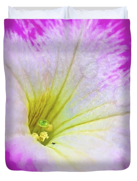 Pink Petunia Photoart Square Duvet Cover