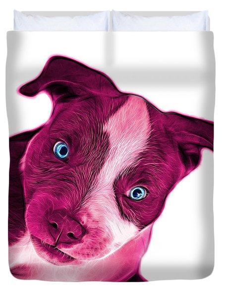Pink Pitbull Dog Art 7435 - Wb Duvet Cover