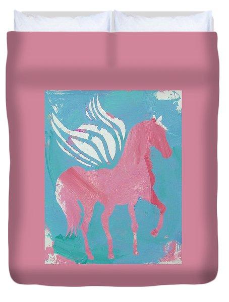 Pink Princess Pegasus Duvet Cover