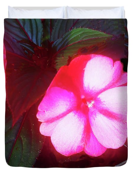 Pink Red Glow Duvet Cover