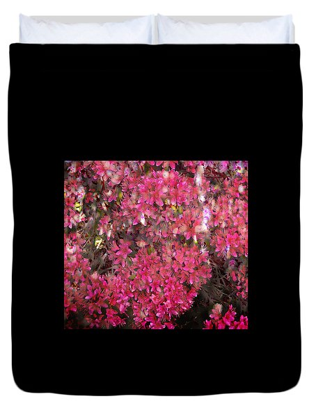 Pink Rhododendron Duvet Cover