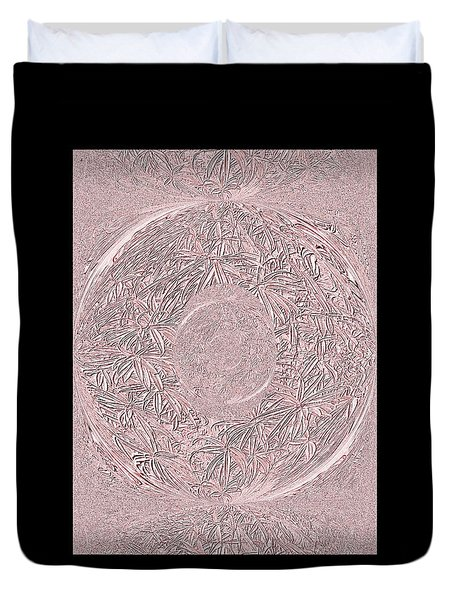Duvet Cover featuring the digital art Pink Ring. Special by Oksana Semenchenko
