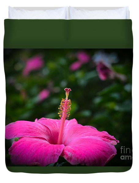 Duvet Cover featuring the photograph Pink Romance by Kelly Wade